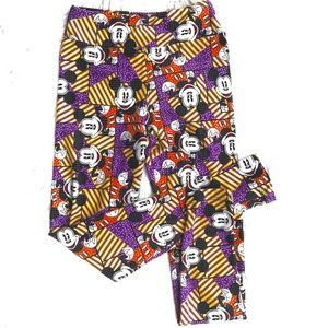 LuLaRoe Disney Mickey Mouse Tween Leggings Purple